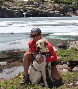 Hiking the CO mountains with my dog Phoebe